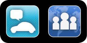 FB4car &Tweet4car - Exclusive In-Vehicle Facebook® & Twitter Applications
