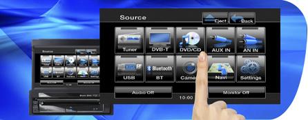 La GUI de la pantalla táctil hace posible una accesibilidad máxima a un amplio abanico de funciones