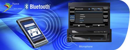 Módulo Bluetooth Parrot para comunicación manos libres, acceso a la agenda y transmisión de audio