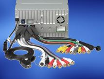 Salida de preamplificador de audio de 2 voltios y 2 canales