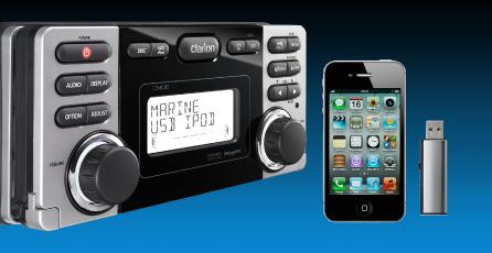 Control del iPod o iPhone conectado mediante USB con un mando a distancia alámbrico opcional