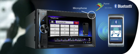 Bluetooth Parrot pour le mode mains libres, l'accès au répertoire et l'Audio Streaming