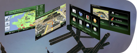 Sistema di navigazione integrato con 12 milioni di Punti di interesse
