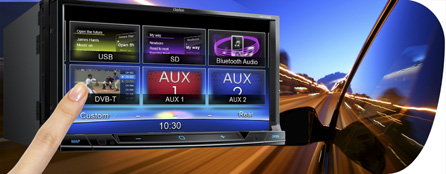 DVB-T (Digital Video Broadcasting, trasmissione video digitale – terrestre) integrato