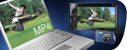 Guarda un'ampia gamma di contenuto visivo con la compatibilit� DVD/MP4