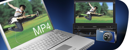 Watch a wide variety of visual content with DVD/MP4 compatibility