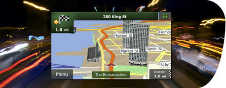 Navigazione GPS e funzioni di supporto complete in grande stile