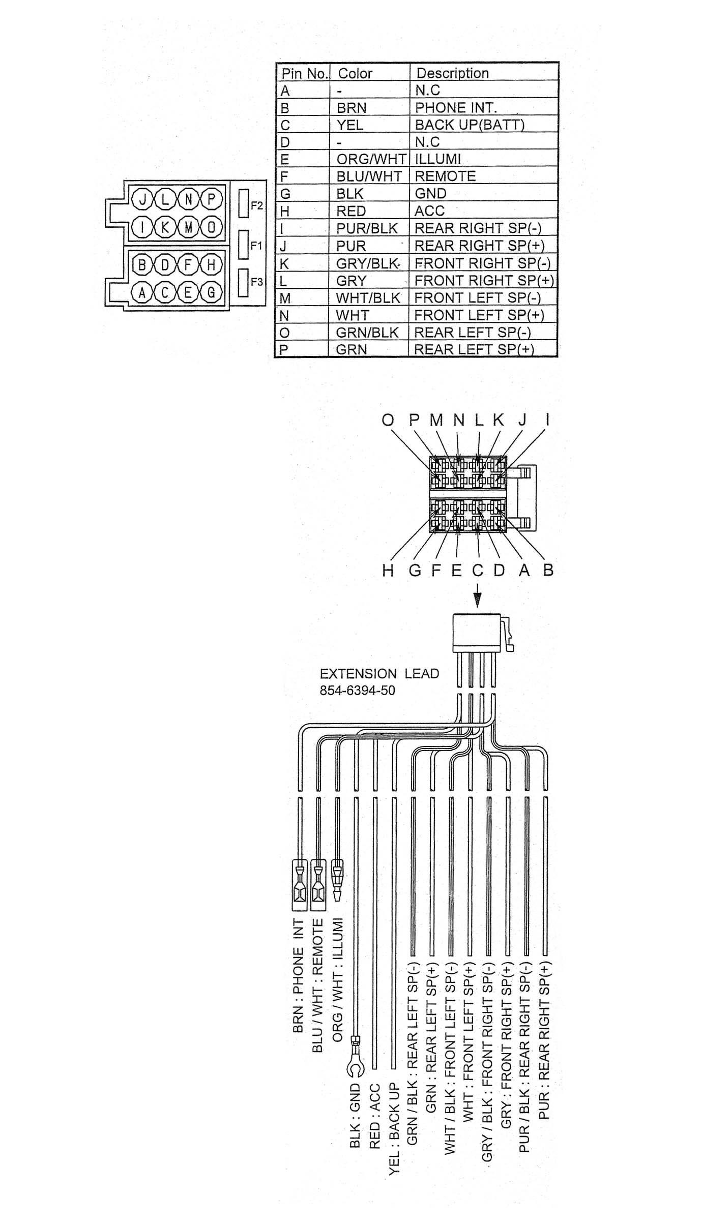 Clarion M309 Wiring Diagram - Free Download Wiring Diagram