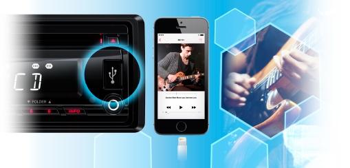 CLARION CZ207AU USB AUX-IN SD MP3 WMA CD AUDIO RECEIVER