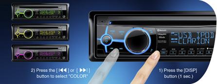 728 вариантов цветов подсветки кнопок для точного соответствия цвету подсветки приборной панели