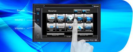 Интерфейс сенсорного экрана обеспечивает удобный выбор большого числа функций