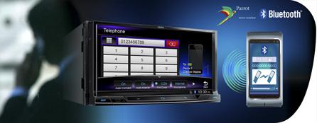 Eller serbest iletişim, telefon defterine erişim ve ses akışı için Parrot Bluetooth
