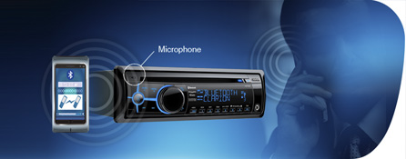 Parrot Bluetooth for hands-free communication, phonebook access and audio streaming